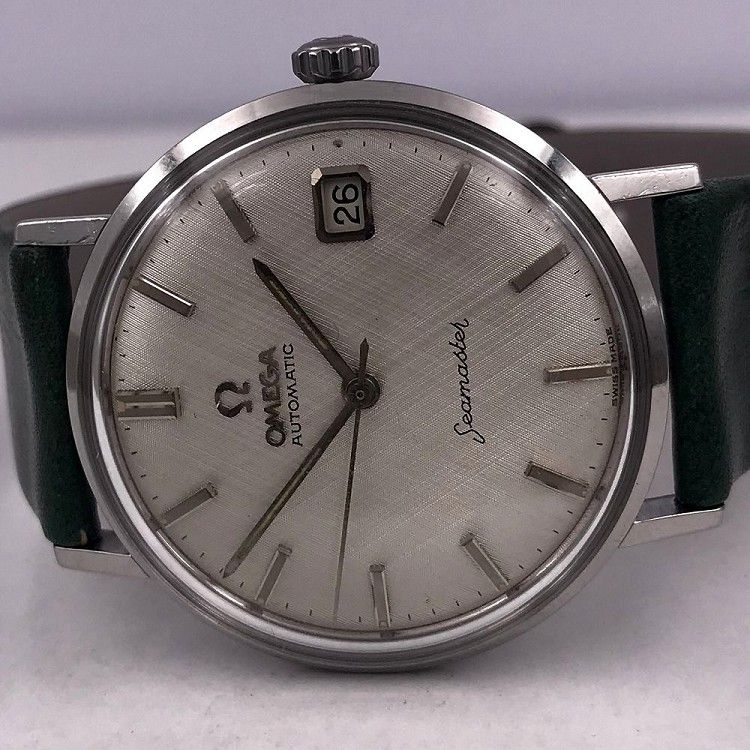 651e898966be OMEGA VINTAGE 1962 SEAMASTER AUTOMATIC DATE LINEN DIAL REF 14770 SC-61 CAL  562-