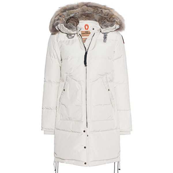 PARAJUMPERS Long Bear Chalk // Down parka with fur trim (58.615 RUB) ❤