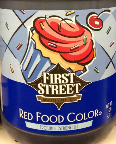 1 Gallon Red Food Color Double Strength 378 Liter Total by First ...