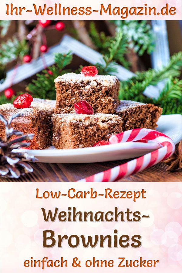 Low Carb Weihnachts-Brownies - Rezept ohne Zucker #süßesbacken