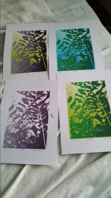 Serigraphy painting from photo