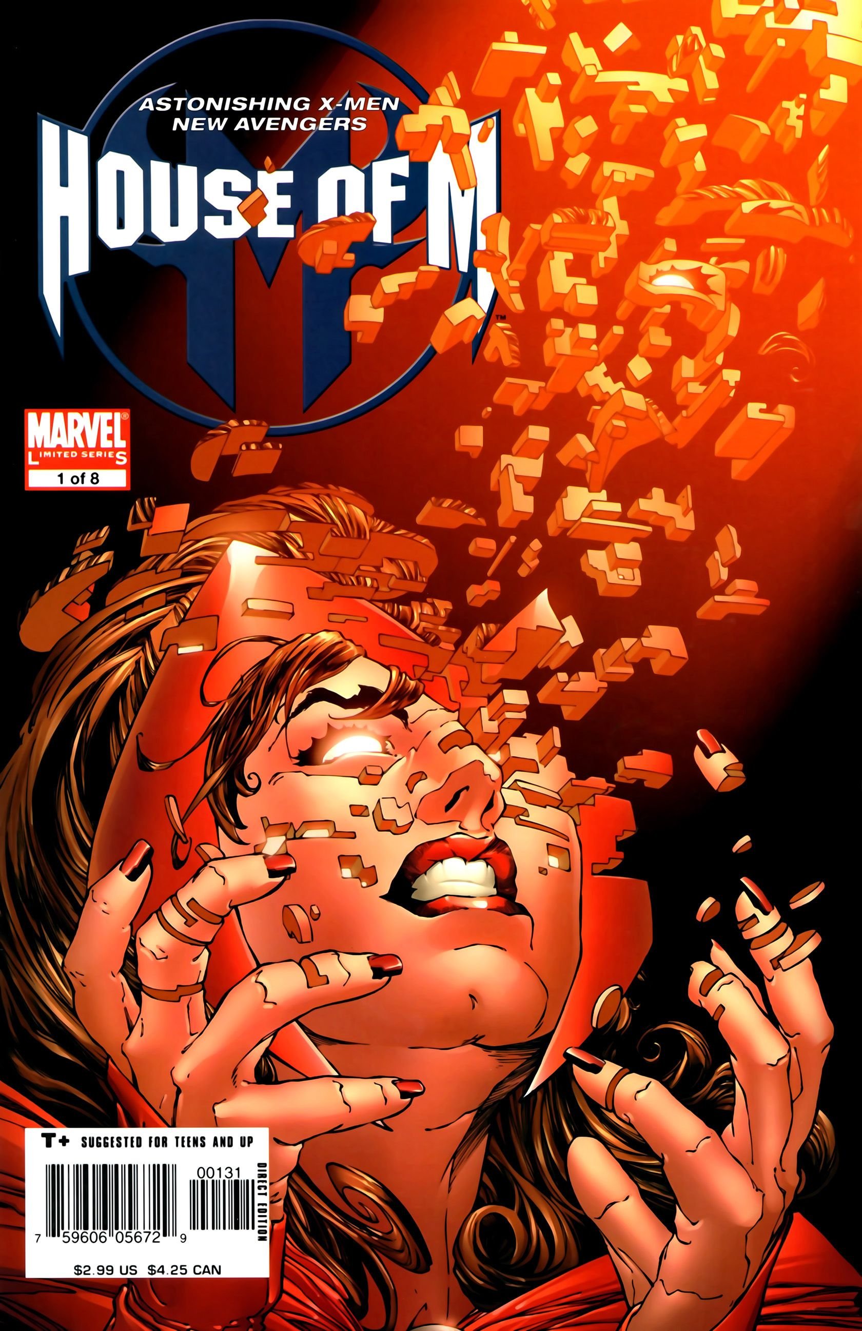 House Of M 1 Variant House Of M Scarlet Witch Fallen Angel