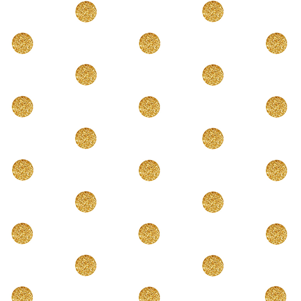 gold polka dots fabric, wallpaper gift wrap - spoonflower | love