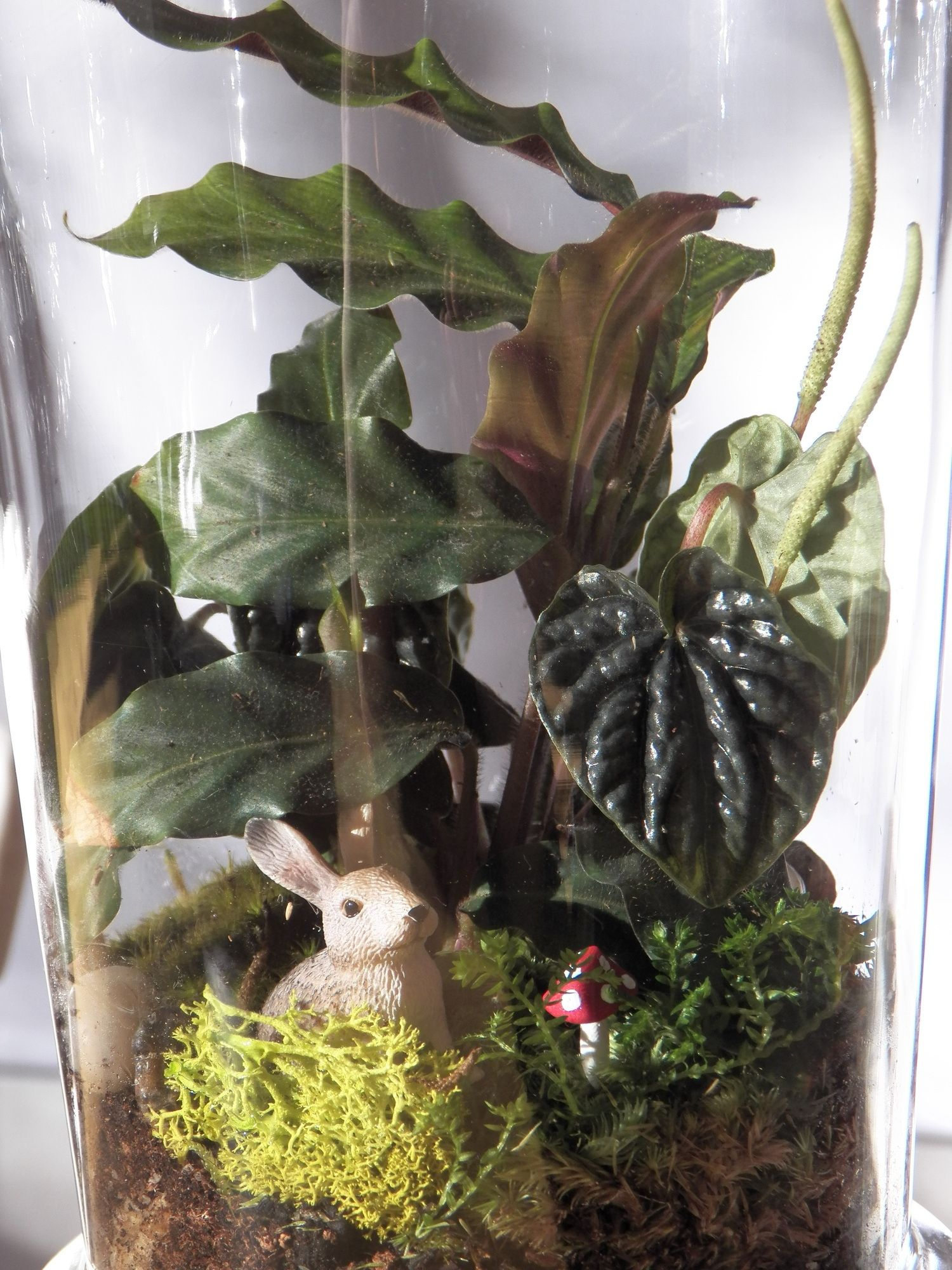 Celebrate Easter with a customised terrarium. Pictured is