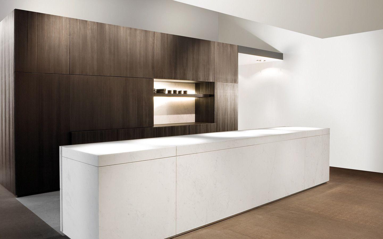 Keukenkasten als tussenwand ook mooie combinatie zwart en wit   ...