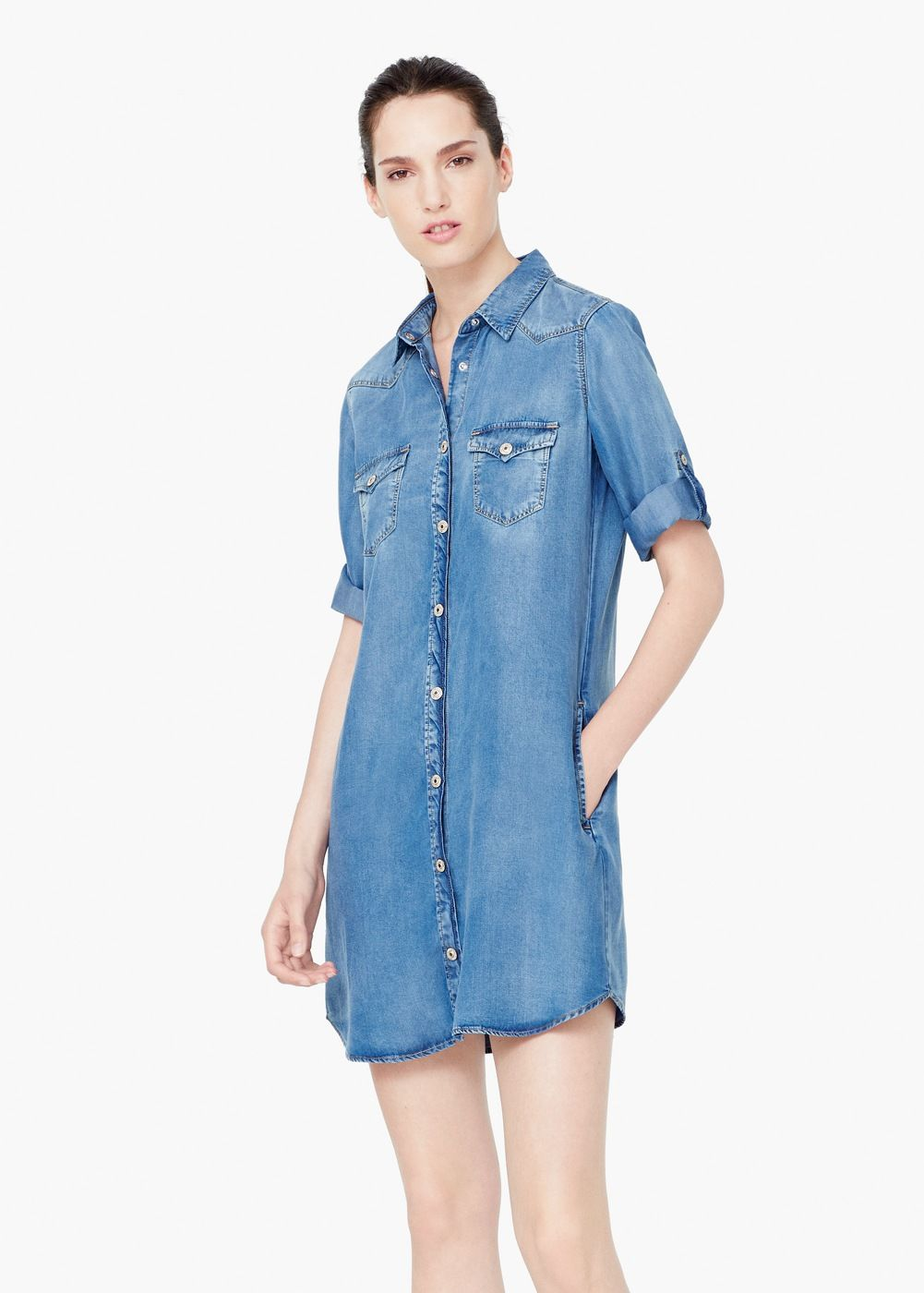 Denim dress style clothes clothes and bag for Robe jean mango