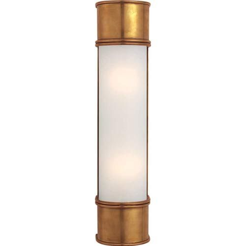 Bathroom Light Fixtures Antique Brass visual comfort and company antique brass oxford tall linear wall