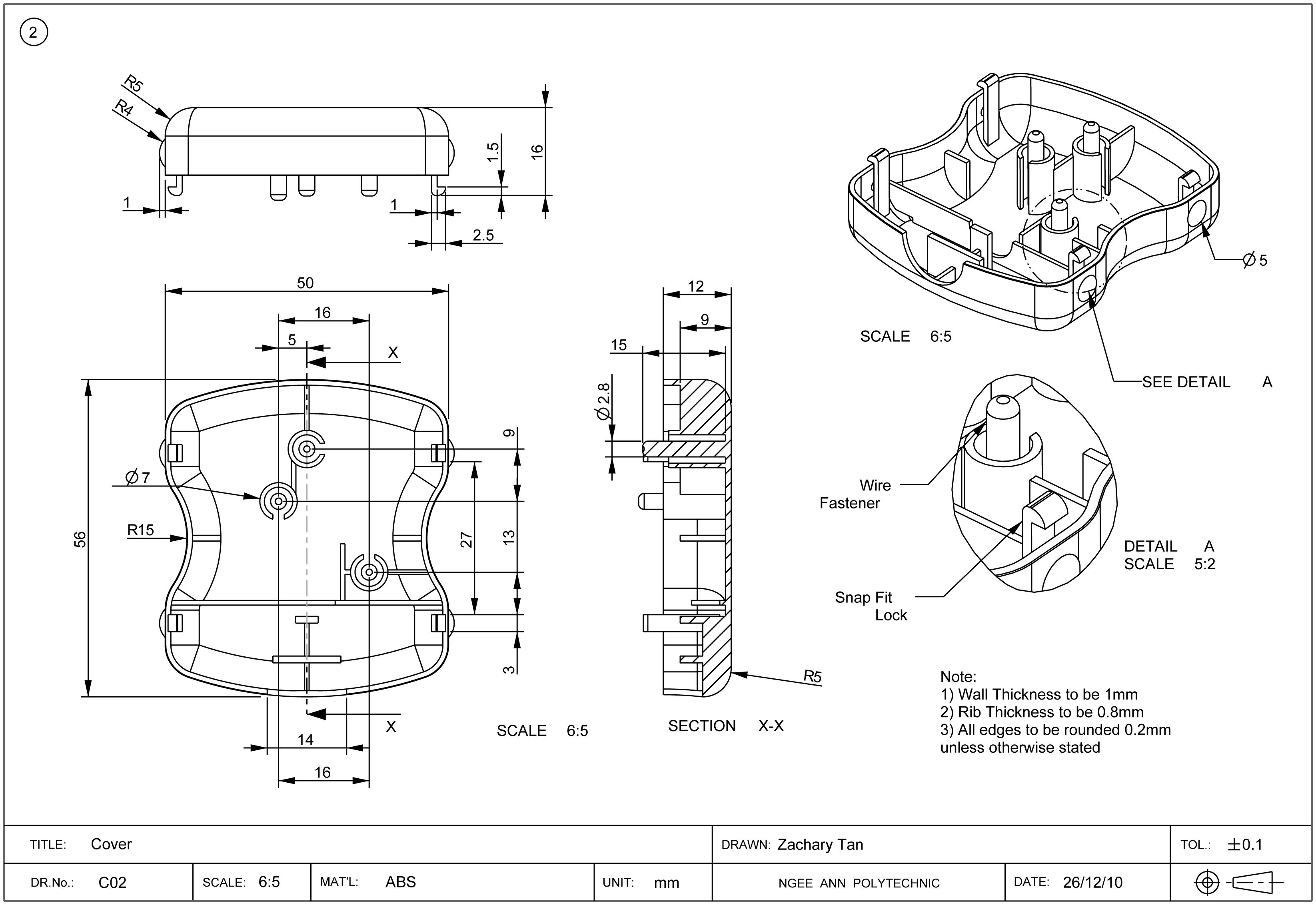 Manufacturing Engineer Technical Drawing