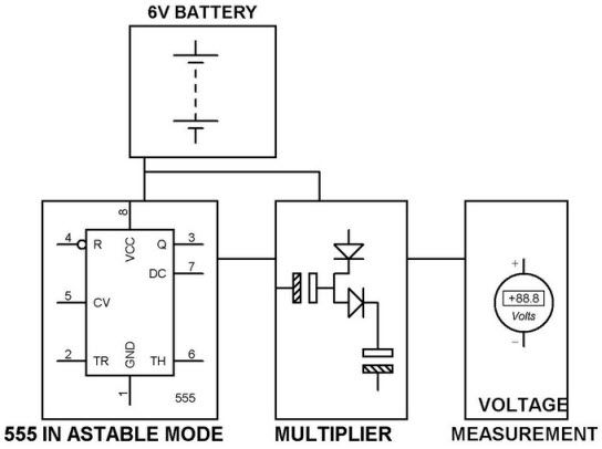voltage doubler circuit using 555 timer with working electric rh pinterest com