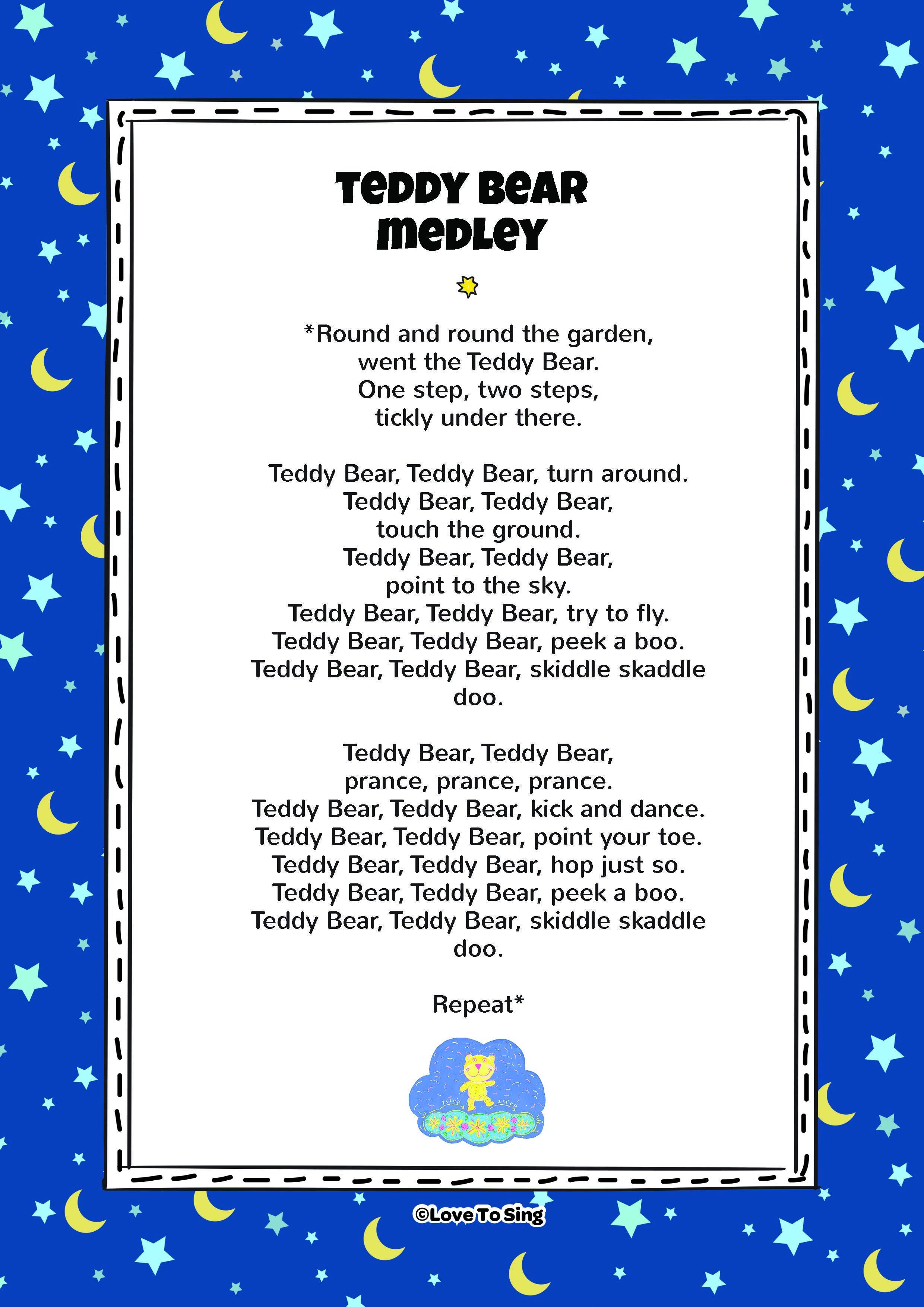 Teddy Bear Medley Nursery Rhyme Nursery rhymes lyrics