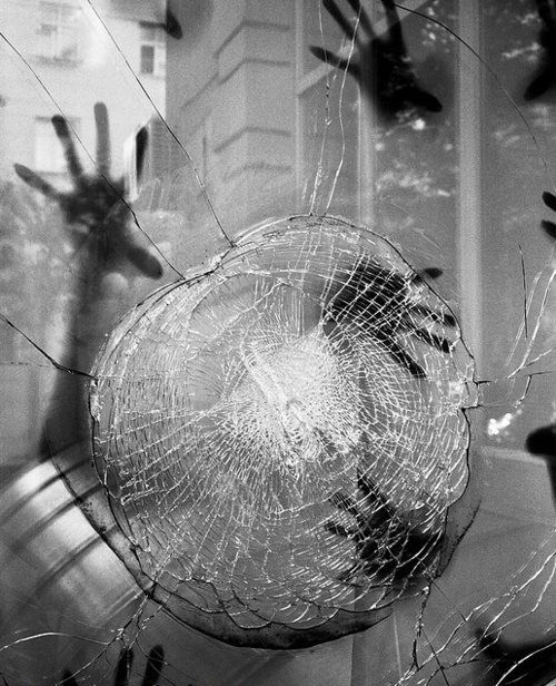 Behind The Broken Glass Black Amp White Photography
