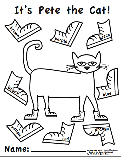 Pete the Cat Coloring Pages Coloring Pages in 2020