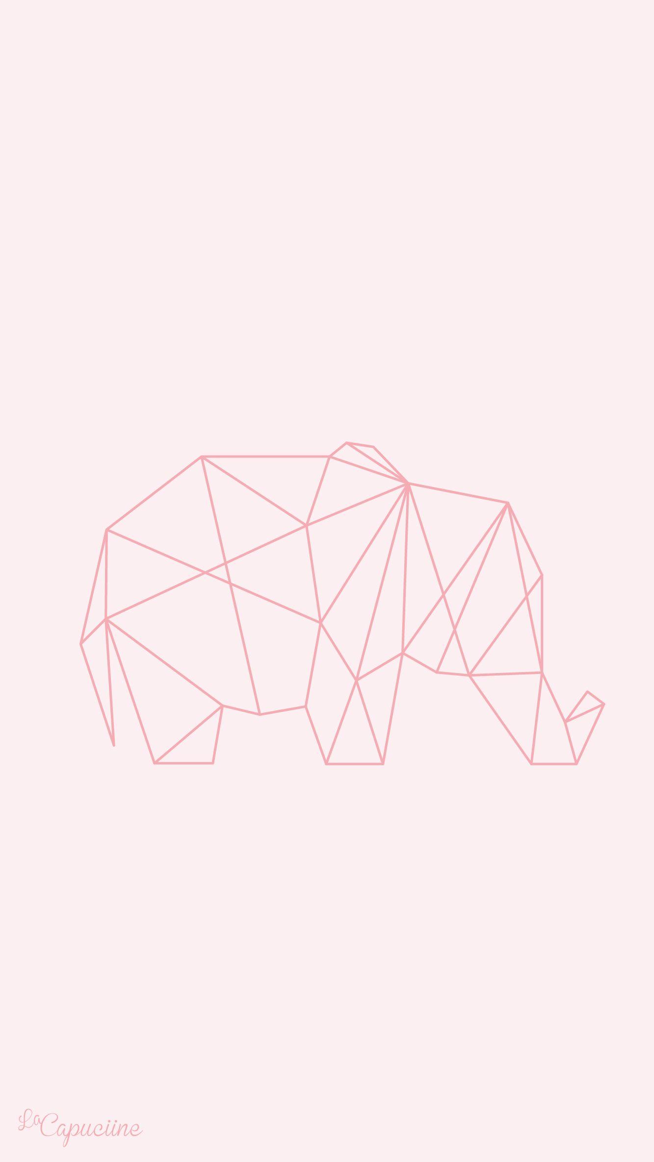 pink elephant iphone wallpaper