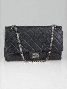 09744a87e8559d Chanel Grey 2.55 Reissue Quilted Classic Leather 227 Jumbo Flap Bag  #Chanelhandbags