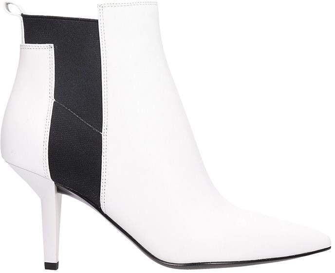 75df2024bd90 White Leather Ankle Boots #boots#pointed#toe | Fashion Street Casual ...