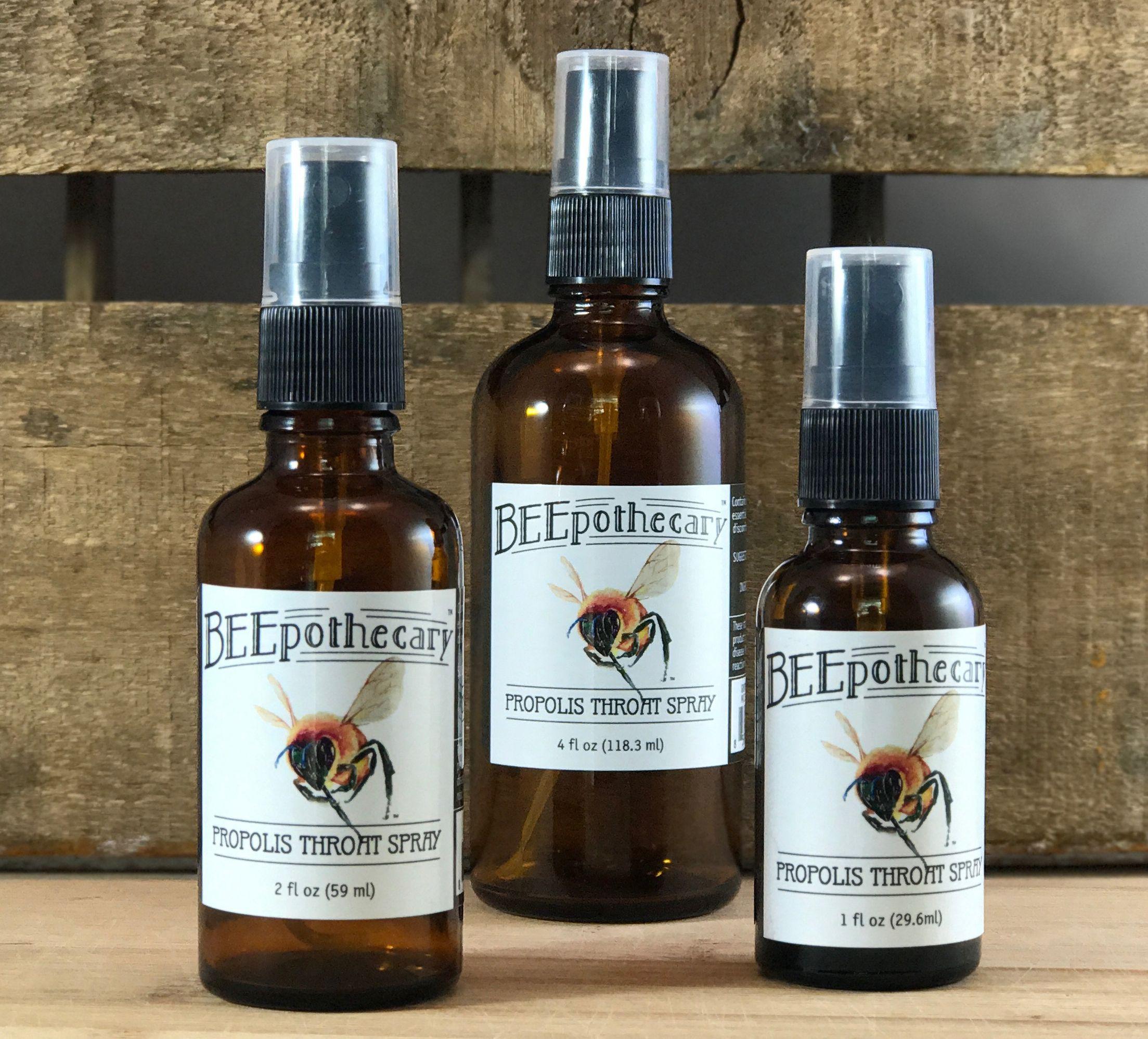 Propolis Throat Spray #BEEpothecary, #propolis,#honeybees