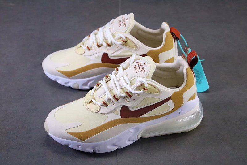 Nike beige Air Max 270 React sneakers