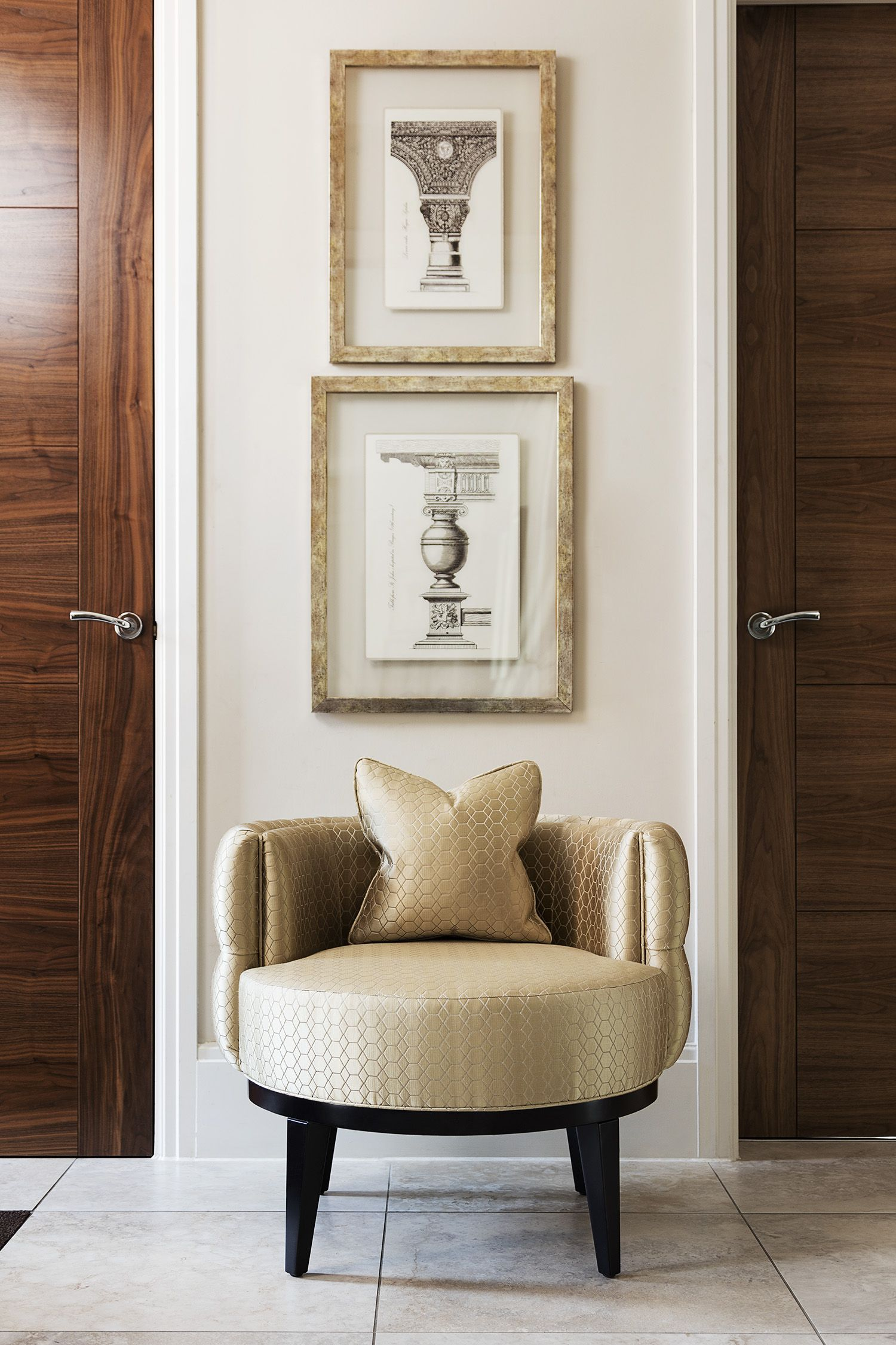 OSCAR ROUND ACCENT CHAIR. This Charming U0026 Luxury Occasional Chair With The  Chic Curves Features A Deep Buttoned Back U0026 Pipping Details.