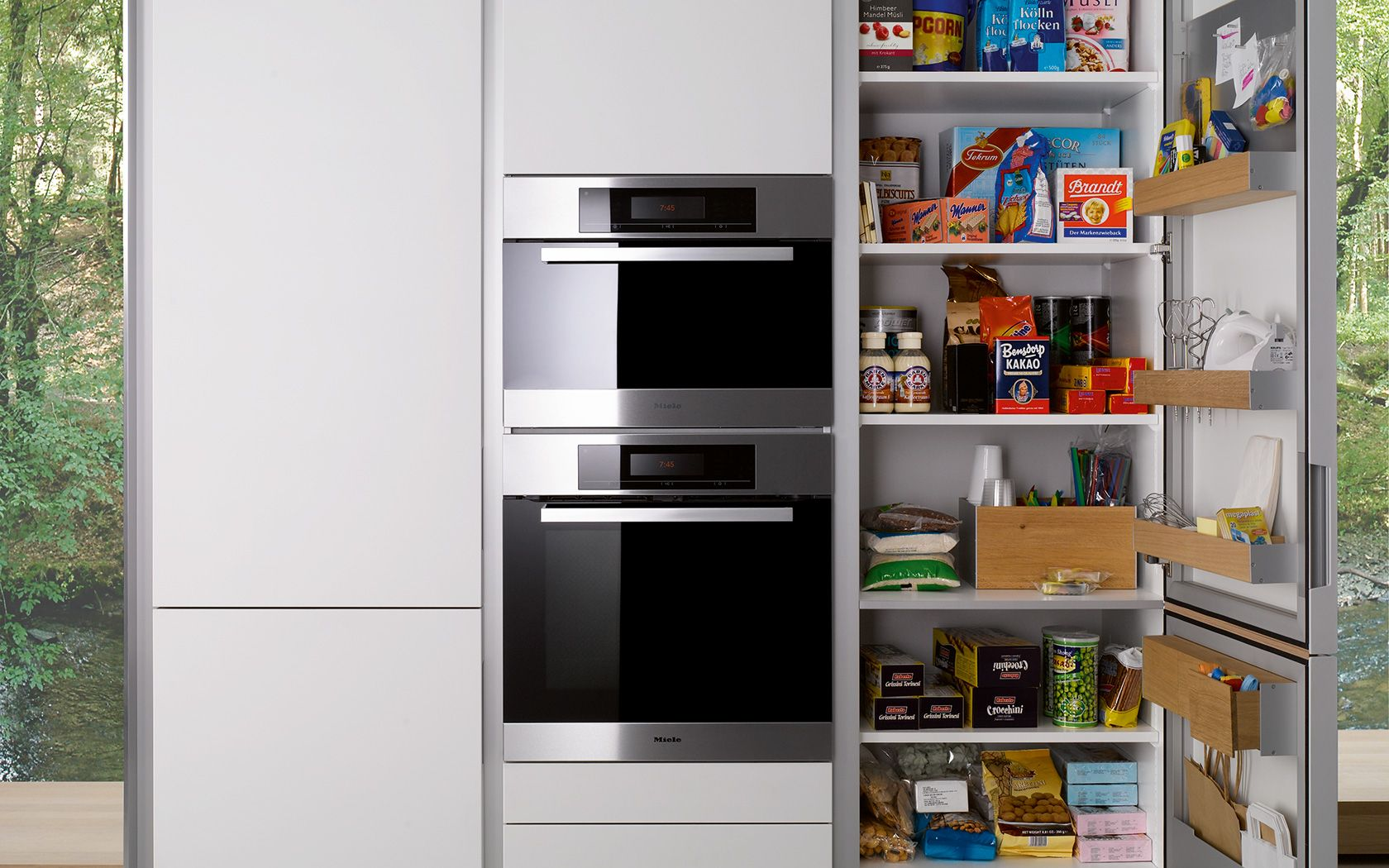 Modern Kitchen Storage Modern Kitchen Without Handles S1 Siematiccom Tall Cabinet