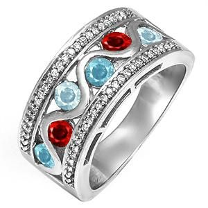 mothers ring with kids birthstones Jewelery Pinterest Ring