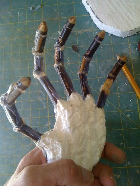 cheap and easy skeleton hands diy halloween decorationsprops - Cheap Homemade Outdoor Halloween Decorations