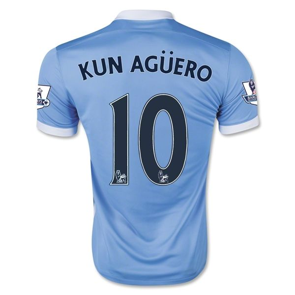 a5be8dd6a Men's 2015/16 Manchester City Sergio Agüero Soccer Jersey | Soccer ...