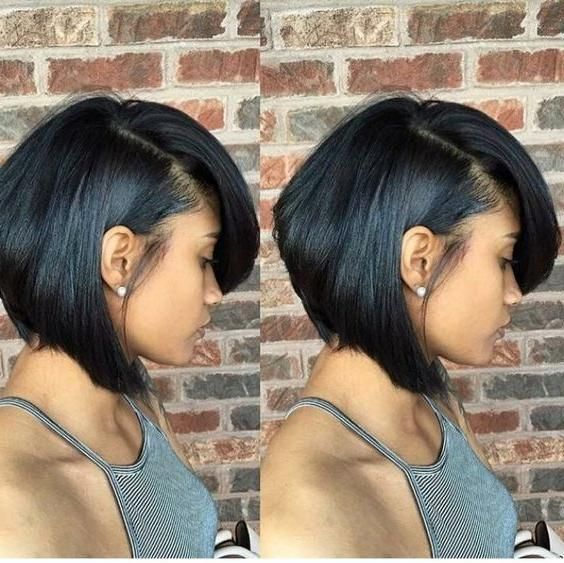 Feathered Bob Throughout Most Up to Date Short Black Bob ...