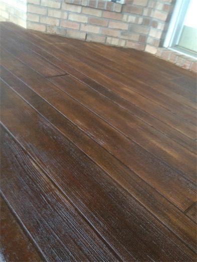 Wood stamped concrete porch for the home pinterest - Maison wooden concrete nestor sandbank ...