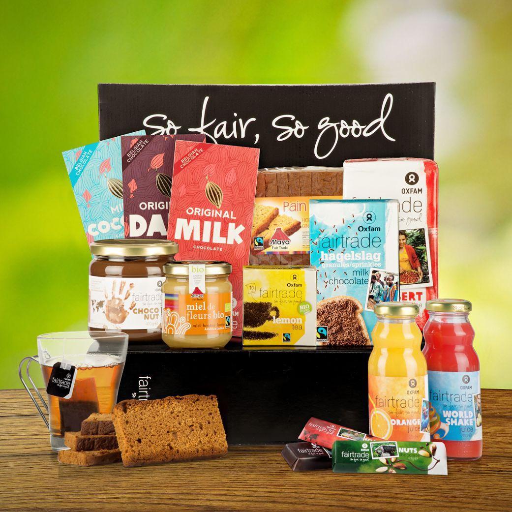 Een heerlijk oxfam fair trade ontbijt met afbeeldingen
