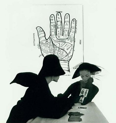 The Tarot Reader (Jean Patchett & Bridget Tichenor), New York, 1949 // Irving Penn