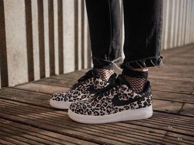 """Découvrez les """"Nike - Air Force 1 Lo Snow Leopard Black Sail"""" sur Clémentine"""