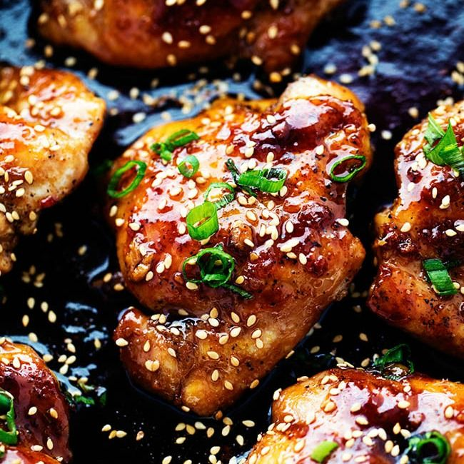 Sticky Asian Chicken Thighs Square: Sticky Asian Glazed Chicken Recipe On Yummly. @yummly