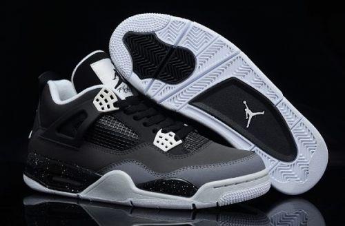 f0582799ec11 Air Jordan 4 Retro Fear Pack Black White-Cool Grey-Pure Platinum For Sale