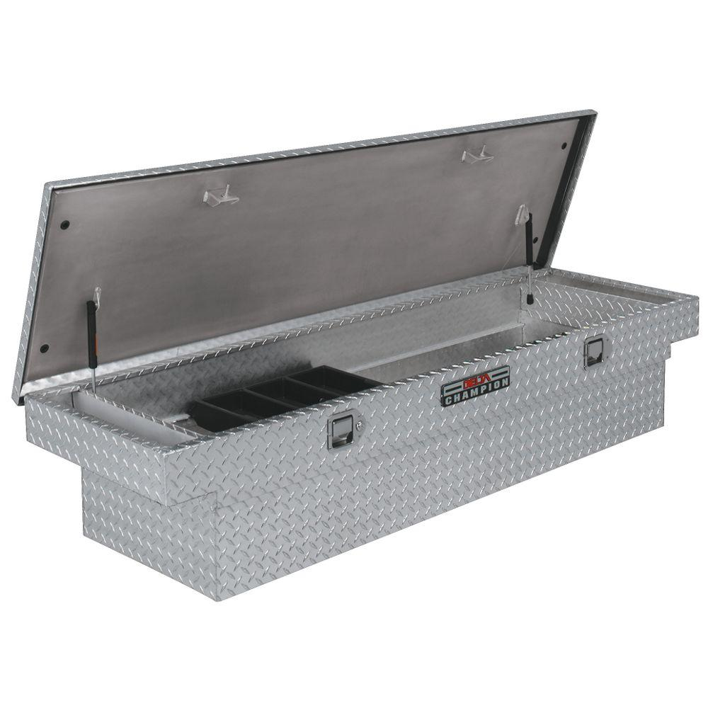 Delta 70 Diamond Plate Aluminum Full Size Crossbed Truck Tool Box 1 232000 Truck Tool Box Truck Tools Small Parts Storage