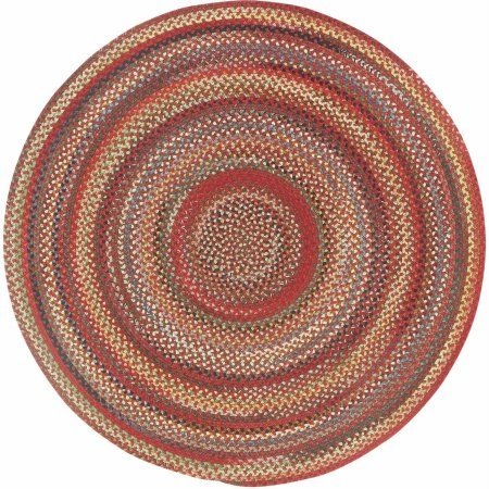 Portland Round Braided Area Rug Red