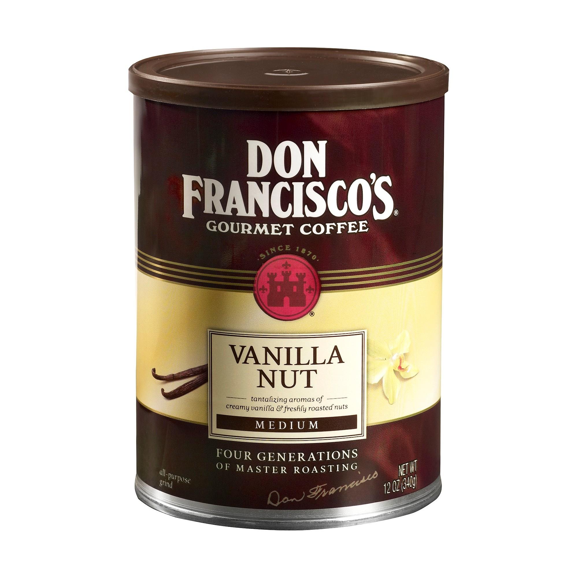 Don franciscos vanilla nut flavored medium roast ground