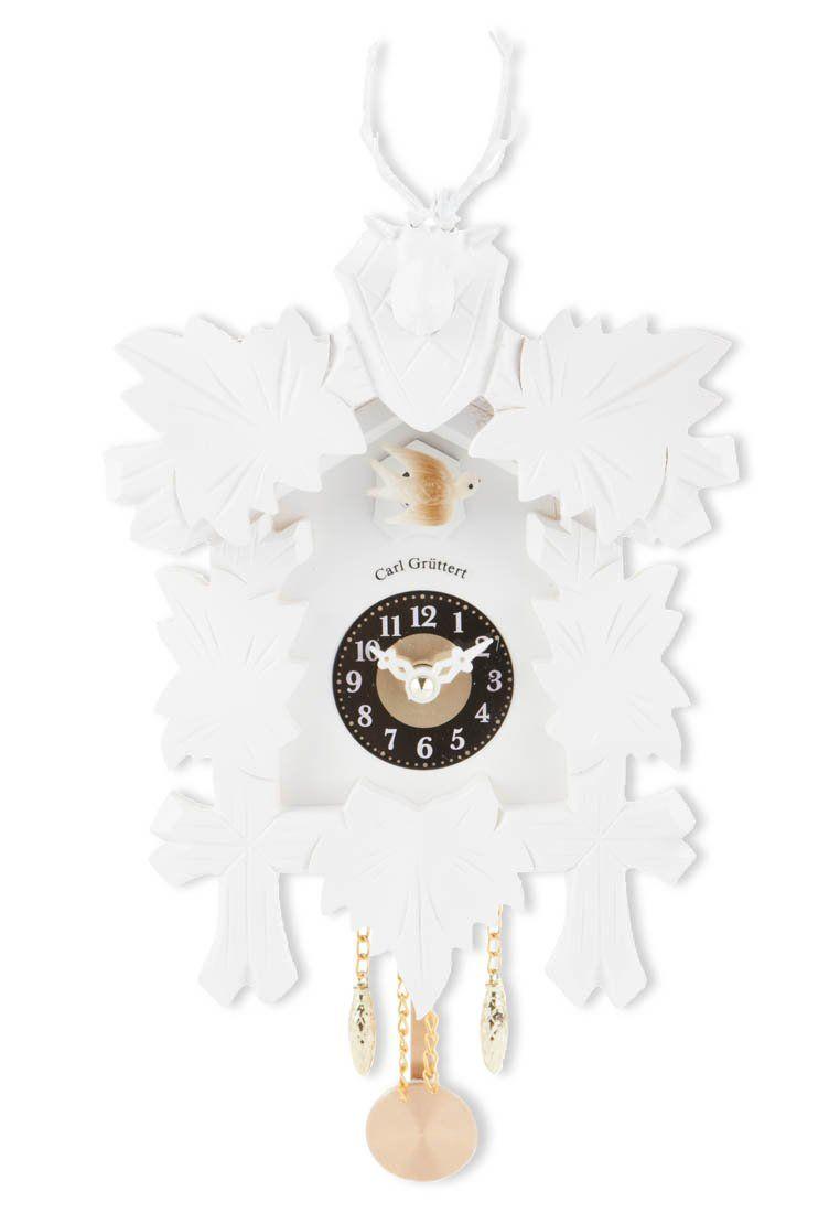 Grappige design wandklok in het wit van Carl Grüttert @ Zalando ...