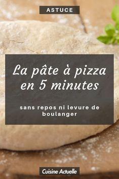 La pâte à pizza en 5 minutes (sans repos ni levure de boulanger) - #5 #a #boulanger #de #en #la #levure #Minutes #ni #Pâte #pizza #repos #sans