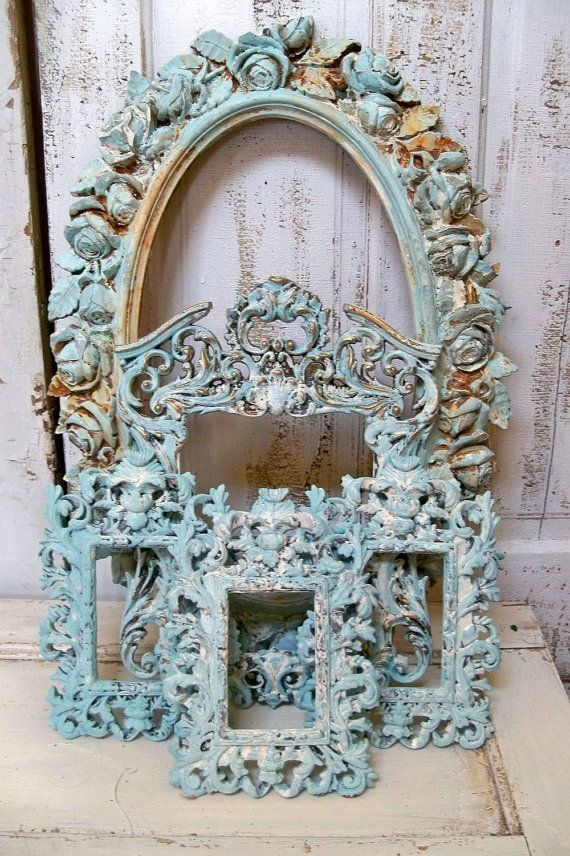 French blue ornate large frame grouping by AnitaSperoDesign, $275.00 ...