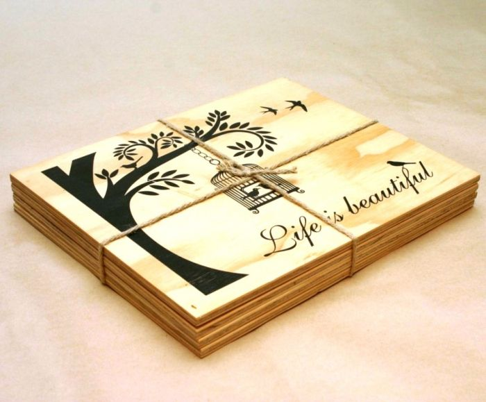 Printed Wooden Placemat Wood Placemats Placemats Wooden