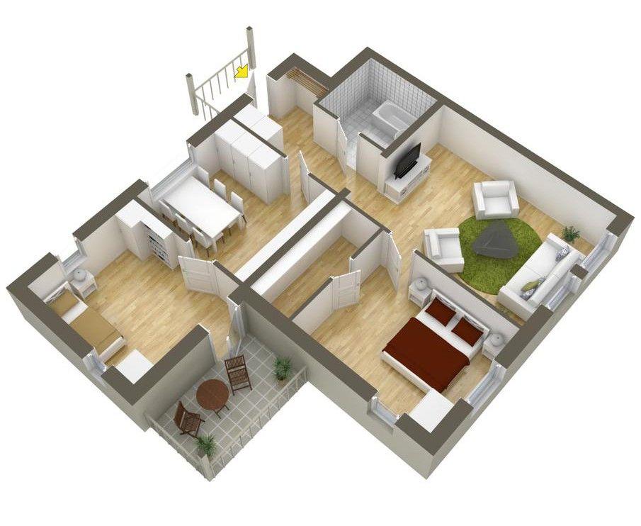 Planos de departamentos dos dormitorios apartamento for Planos apartamentos pequenos
