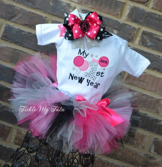 My First New Year Tutu Outfit Girls Christmas Outfits Tutu Outfits Diy Tutu Dress
