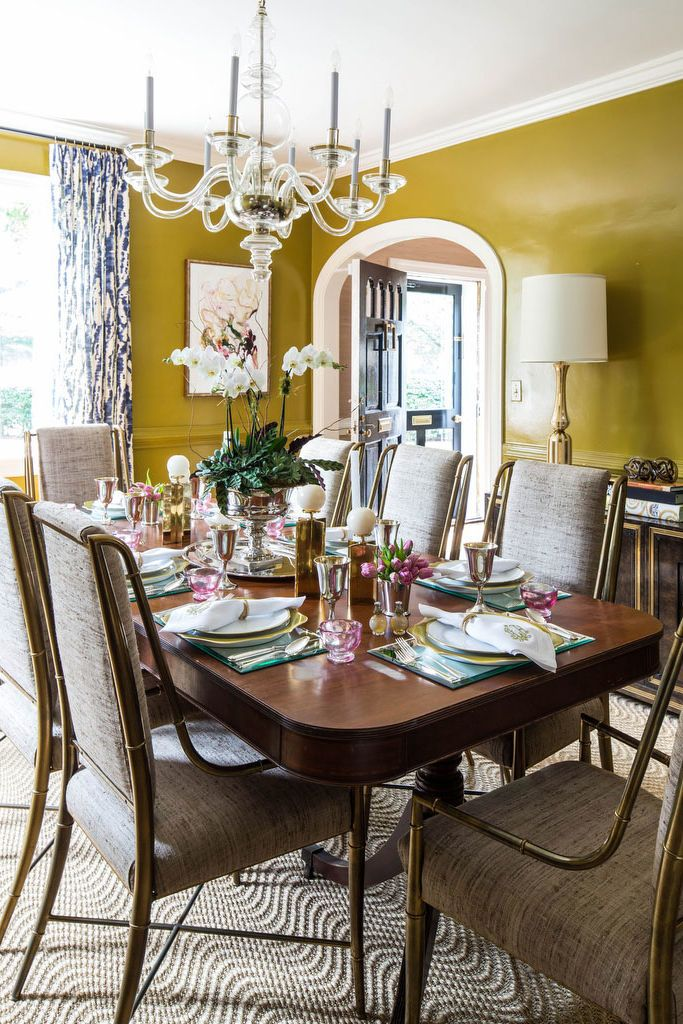 Olive Mustard Living Room