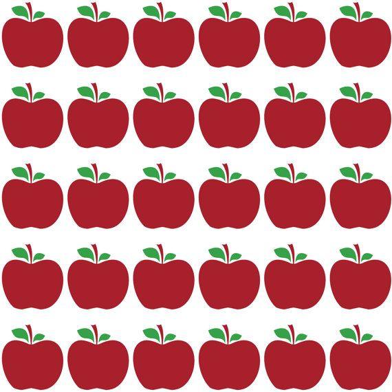 Wonderful Apple Decal Fruit Wall Decal Border Classroom Decor School Teacher Kitchen  Decor Kindergarten Bulletin Board Sticker