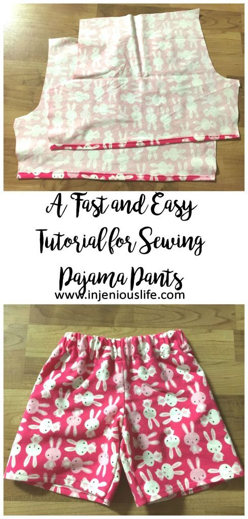 A Fast and Easy Tutorial for Sewing Pajama Pants | Rock ...