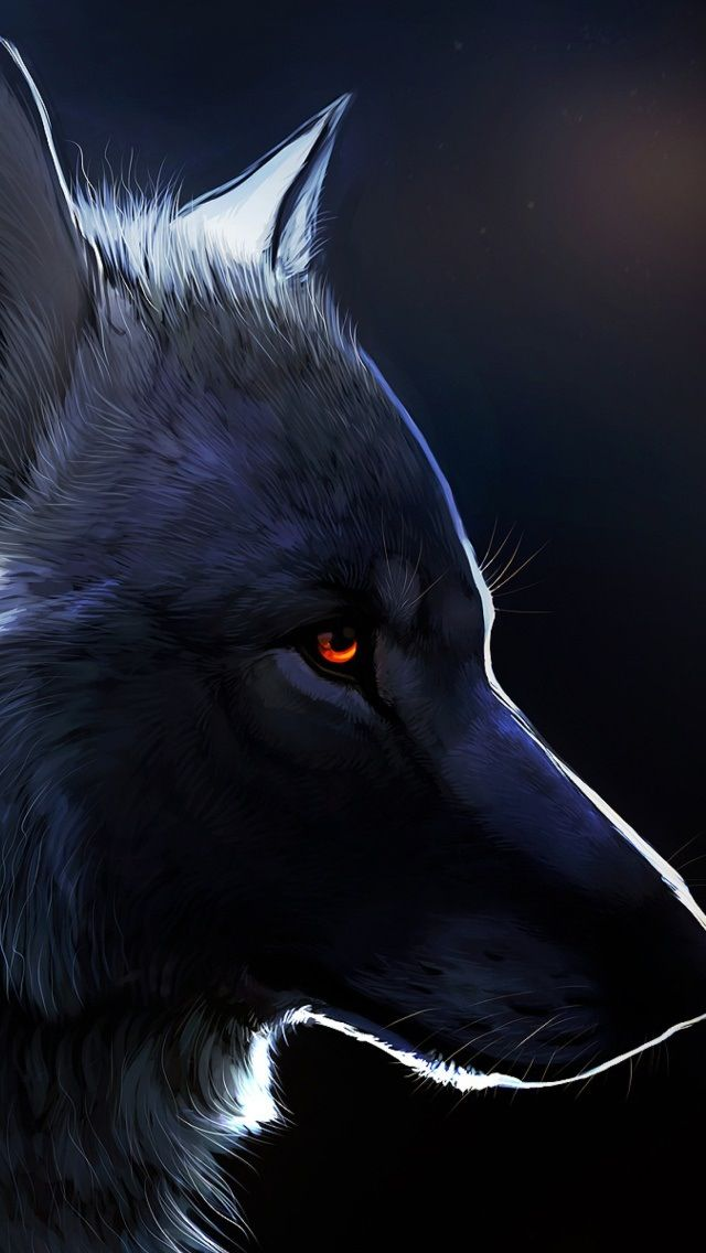 Red Eyed Black Wolf