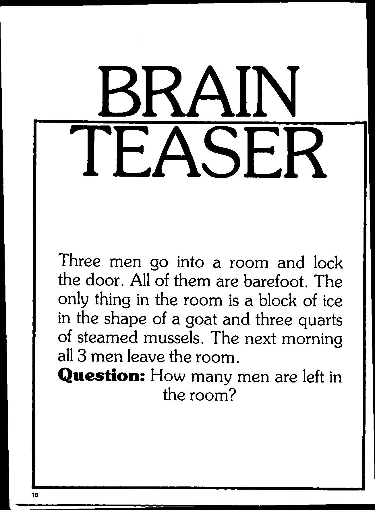 math worksheet : brain teasers  brain teasers  pirates of the caribbean online  : Brain Teasers For Middle Schoolers