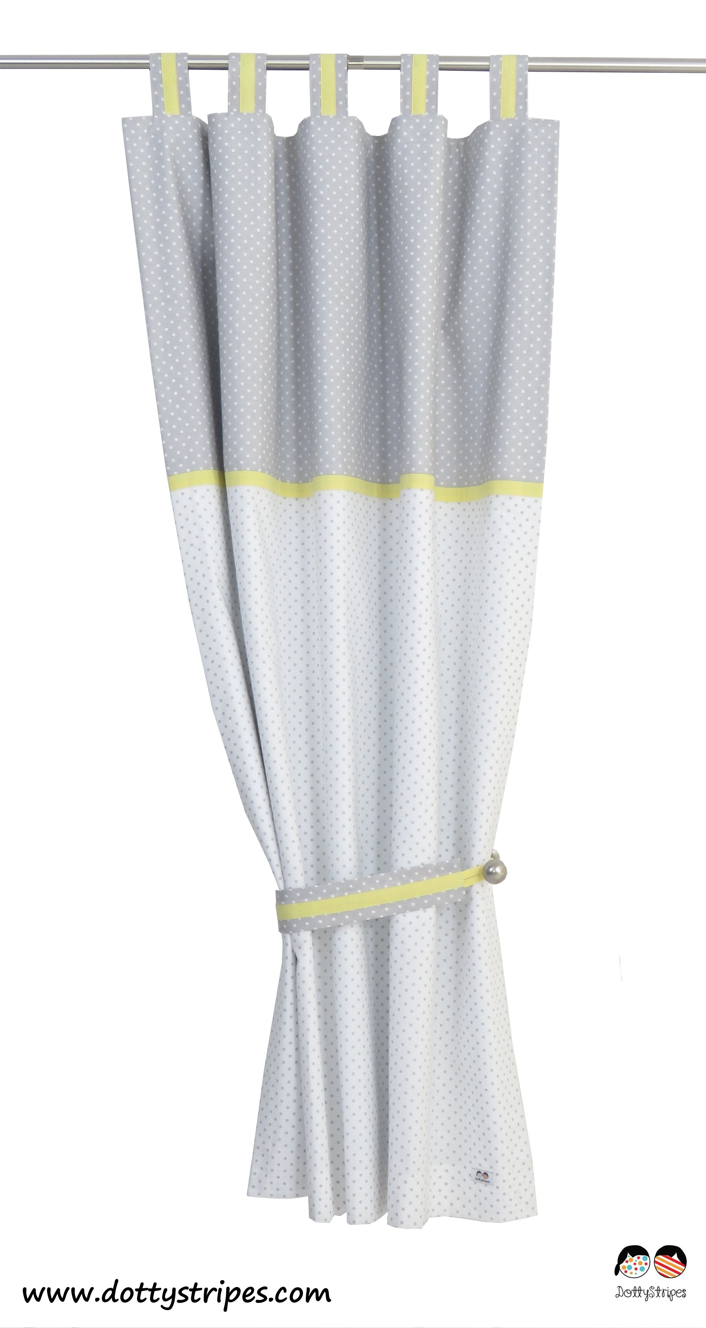 Boys Curtains In Yellow Grey And White Polka Dot Hand Made With Blackout Lining Highest Standard Or Craftsmanship Professional Advice About Size