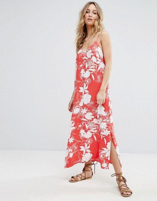 Vila Floral Printed Maxi Cami Dress   Pinterest