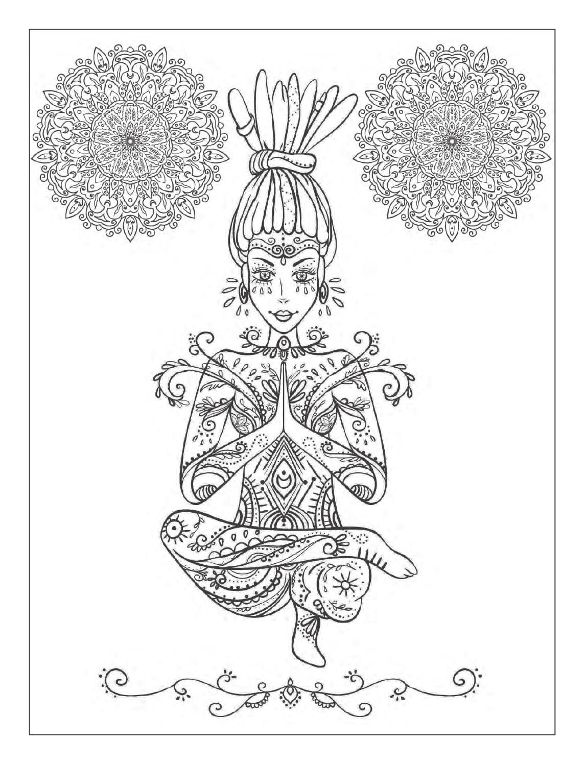 Yoga And Meditation Coloring Book For Adults With Yoga Poses And Mandalas Coloring Books Mandala Coloring Pages [ 1496 x 1147 Pixel ]